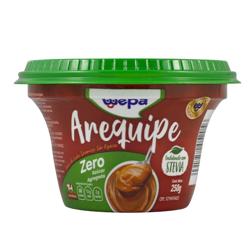 Arequipe Wepa con Stevia   250gr