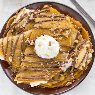 Nutella-Covered Pumpkin Crepes
