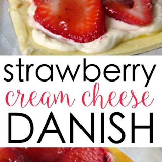 STRAWBERRY AND CREAM CHEESE DANISH