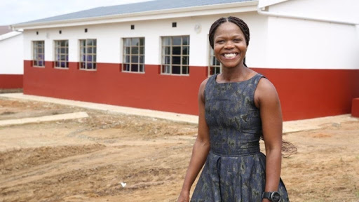 UKZN alumnus Nontu Mgabhi at the school she is assisting.
