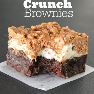 Marshmallow Crunch Brownies.