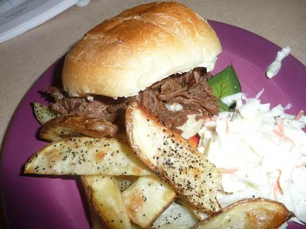 Mile-high Shredded Beef Sandwiches