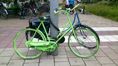 Photo: For #todaytuesday  by +Brian White I took this photo of a green bicycle in Amsterdam this morning.
