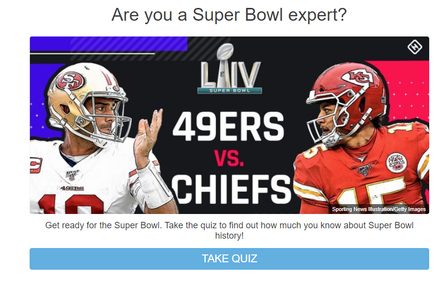 Are you a Super Bowl expert quiz cover