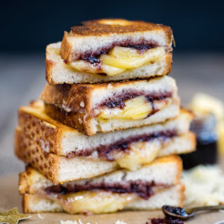 Comté Grilled Cheese Sandwich With Cranberry Relish.