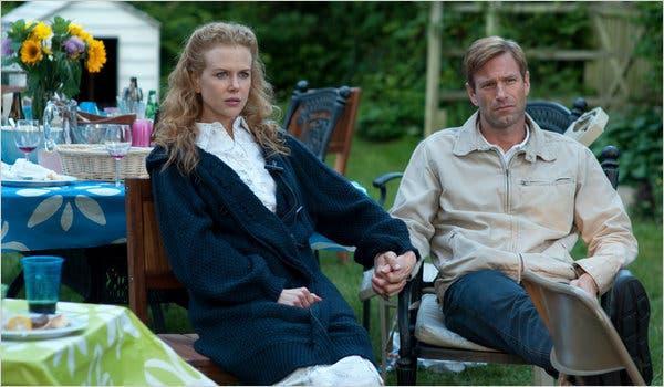 "Nicole Kidman and Aaron Eckhart in ""Rabbit Hole."""