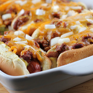Baked Hot Dogs.