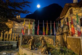 Photo: Notturna del monumento casa Natale di S.Luigi Guanella.