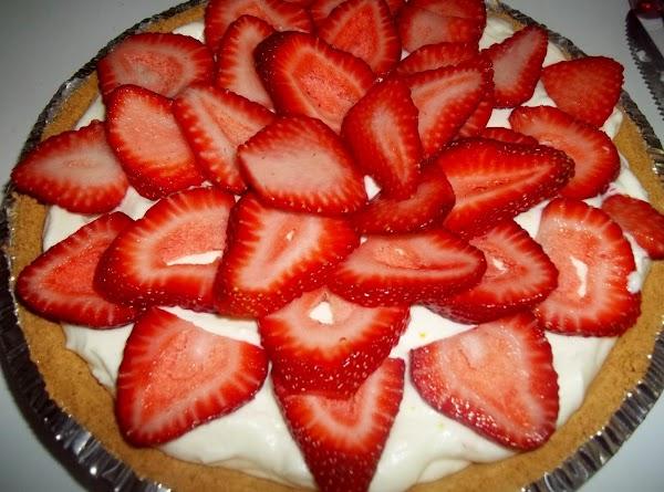 Arrange strawberries on top.
