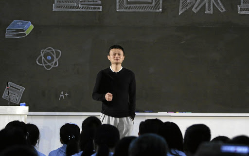 Alibaba founder and CEO Jack Ma attends an award ceremony for rural teachers organised by the Jack Ma Foundation, in Sanya, China, on January 22 2018. Ma plans to focus on philanthropy when he leaves the company. Picture: REUTERS