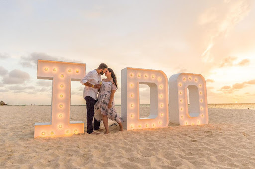 "Say ""I do"" all over again during a special ceremony in Aruba."