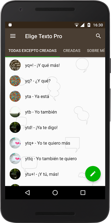 Elige Texto Pro for WhatsApp- screenshot