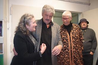 Photo: KÜNSTLERGESPRÄCH MIT BERND WEIKL am 6.2.2016. Dkfm. Liane Bermann, Dr. Bernd Weikl. Copyright: Herta Haider