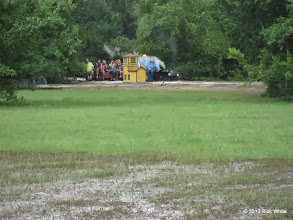Photo: The rain left traces in the low areas.  Pete Green at Sumrall    HALS Public Run Day 2013-0921 RPW
