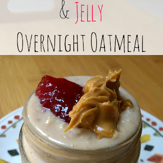 Peanut Butter & Jelly Overnight Oatmeal