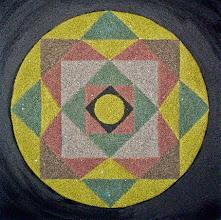 "Photo: XIII Međunarodna izložba ""Žene slikari"" 2015. Majdanpek  Mandala ""Freska uma"" (2) (mixed media; pesak, akril; 30 x 30 cm)  Autor: Nadica Janić"
