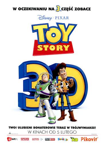Przód ulotki filmu 'Toy Story 3D'