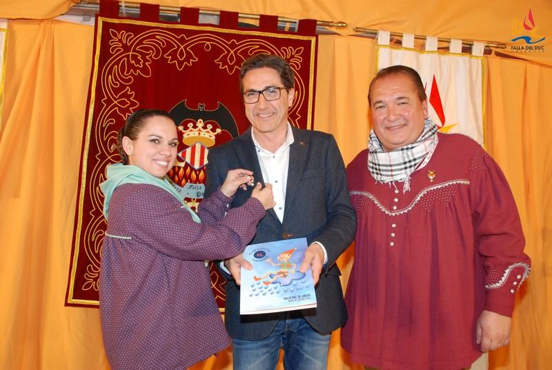 José María Chiquillo visita la Falla del Duc