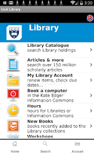 UoA Library- screenshot thumbnail