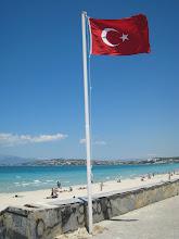 Photo: Turkish flag over Ilica Beach