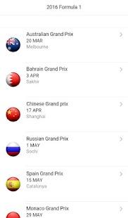 F1 Calendar 2018 Screenshot Thumbnail