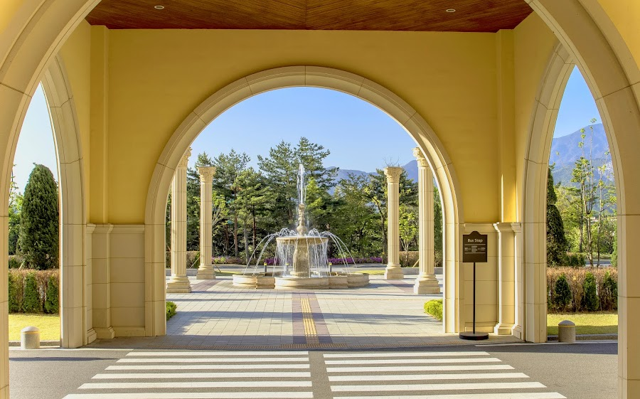 Entrance of Hanhwa Resort, Mt Soerak KOREA by Mala Awang - Buildings & Architecture Office Buildings & Hotels