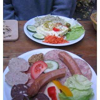 Bratwurst And Cabbage.