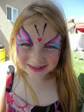 Photo: Butterfly face paint by Heidi, La VerneBook Heidi by calling 888-750-7024
