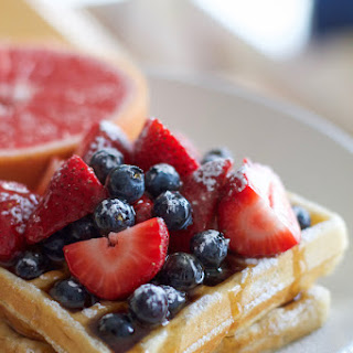 Lemon Sour Cream Waffles
