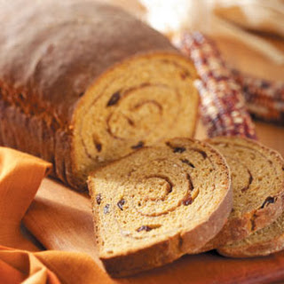 Swirled Pumpkin Yeast Bread.
