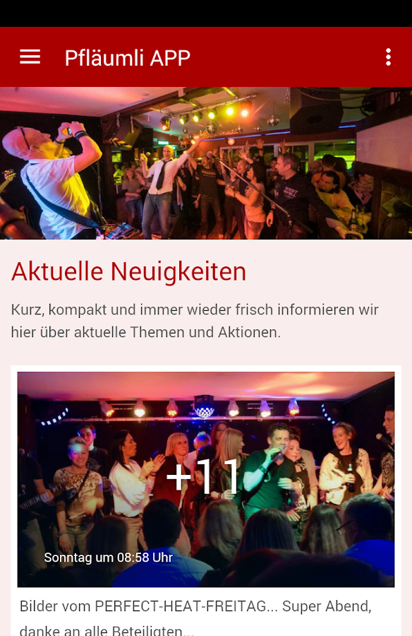 Pfläumli - der Live Club- screenshot
