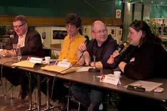Photo: Pierre Gévart, François Hammer, Stephen Baxter et Sylvie Miller