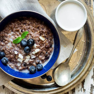 Vegan Blueberry Coconut Slow Cooker Oatmeal.