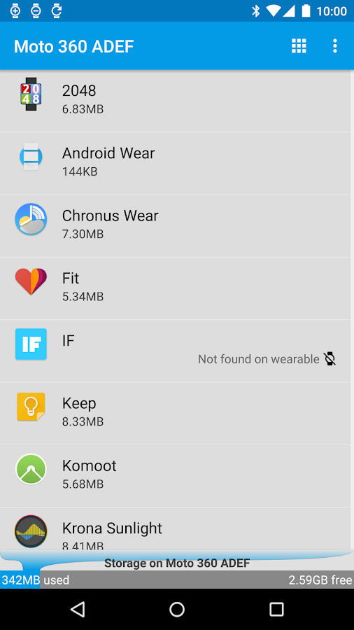 Wear App Manager- screenshot