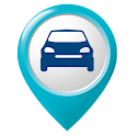 Find my parked car: Where is my car, parking spot icon