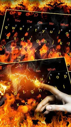3D Red Flaming Fire Keyboard 10102 screenshots 2