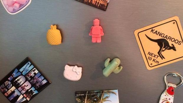 Magnets frigo en béton - Ananas, cactus, LEGO et Hello Kitty