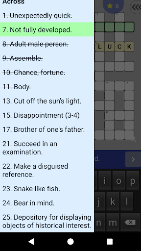 English Crossword puzzle 1.2.5 screenshots 5