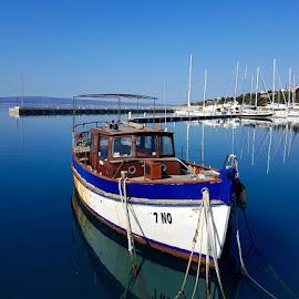 An Old Boat, Novi Vinodolski, Croatia by Dražen Komadina - Transportation Boats ( an old boat, novi vinodolski )