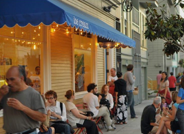 The scene on a warm evening. Photo: Humphry Slocombe.