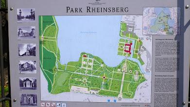 Photo: Der Übersichtsplan der Schloss- und Parkanlagen in Rheinsberg