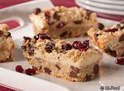Cranberry Chocolate Chip Bars Recipe