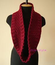 Photo: женский вязаный шарф-снуд
