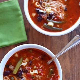 Instant Pot (Ground Turkey) Minestrone Soup Recipe