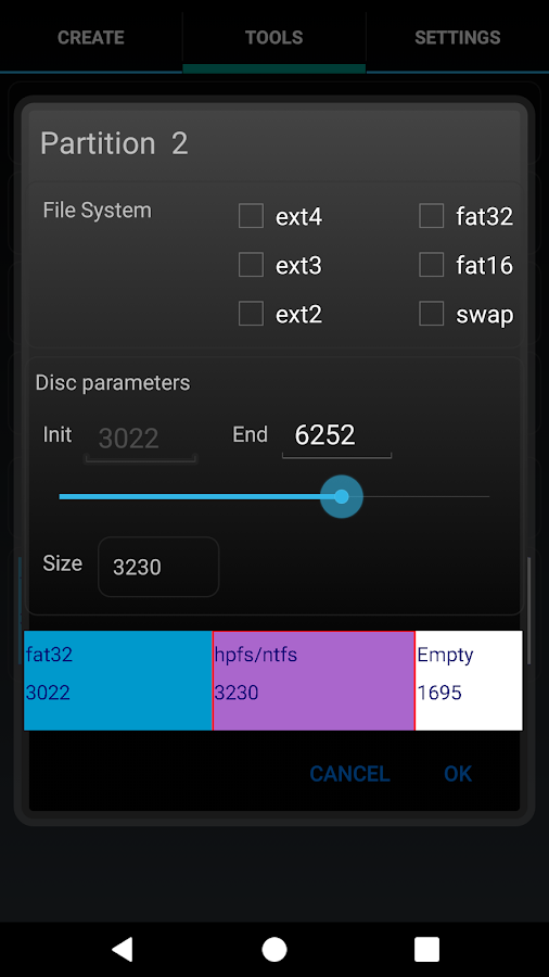 AParted ( Sd card Partition )- screenshot
