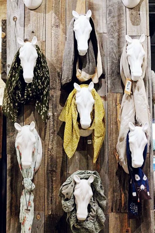 hanging horse heads