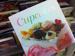 Photo: There was a huge selection of cookbooks. I picked up this cupcake one & drooled as I flipped through the pages.