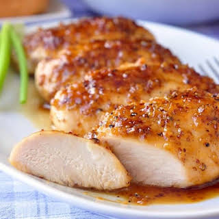 Oven Baked Honeyed Chicken Breasts.