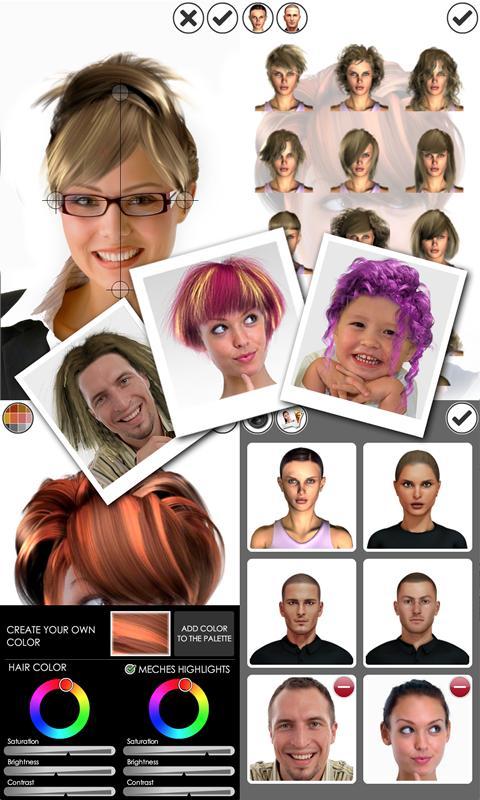 Magic Mirror, Hair styler Screenshot 1
