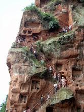 Photo: Walking down to the Buddha